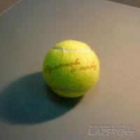 Лазерная гравировка на теннисном мячике