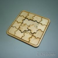 Паззл-мозаика 4х4 шт (10х10 см) с рамкой и основанием