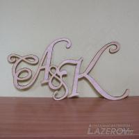 Буквы на свадебное торжество
