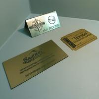 Таблички из металлизированного пластика (золото)
