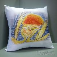 Нанесение детских рисунков на подушку