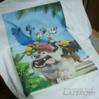 Прямая печать на хлопковых футболках